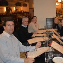 Picture of ERMI employees at lunch