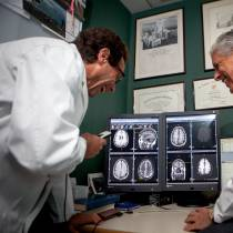 doctors looking at an image