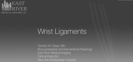 Image for Article: Lecture on Imaging of Wrist Ligaments