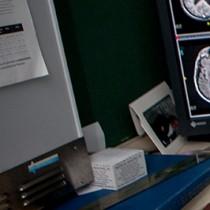 Dr. Katz reading a study