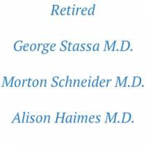 retired radiologists - George Stassa, Morton Schneider and Alison Haimes