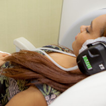 patient with headphones